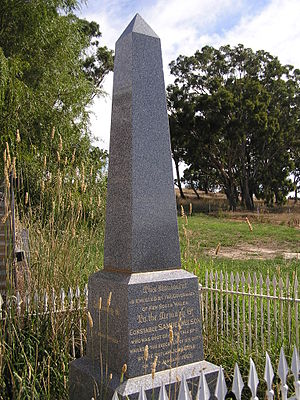 John Dunn (bushranger) - Memorial to Nelson at Collector