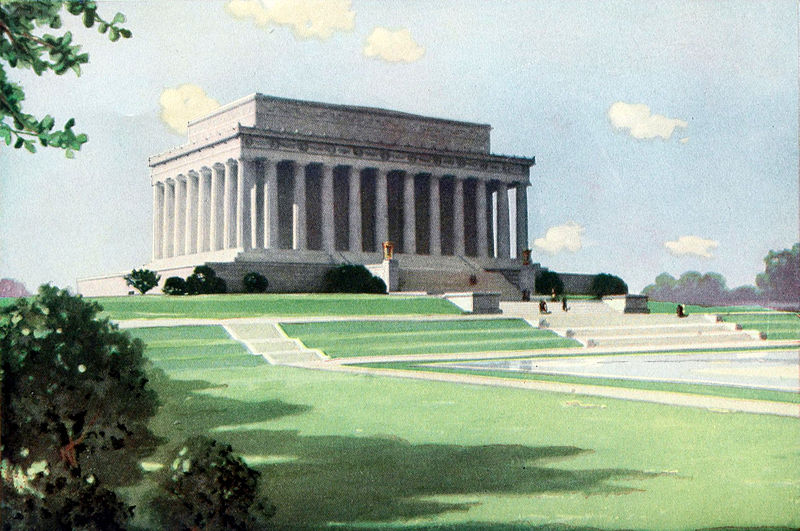 Collier's 1921 Vol 5 Frontispiece -- Lincoln Memorial.jpg