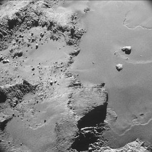 Comet 67P on 26 October 2014 NavCam A.jpg