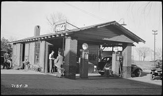 Starkville, Mississippi - Cooperative Creamery Station in Starkville, 1939