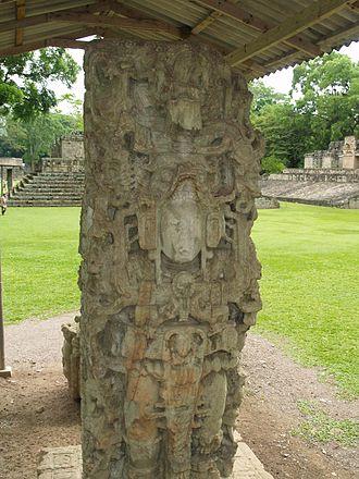 K'ak' Yipyaj Chan K'awiil - Stela N depicting K'ak' Yipyaj Chan K'awiil