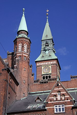 English: Copenhagen City Hall in Copenhagen, D...