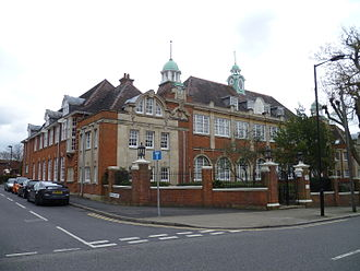 Southgate School - The former premises of Southgate County School in Fox Lane, Palmers Green, now Corrib Court flats.