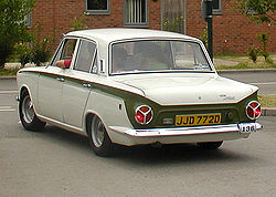1966 Ford Cortina Mark I in GT trim, with Lotus Cortina-like side stripe