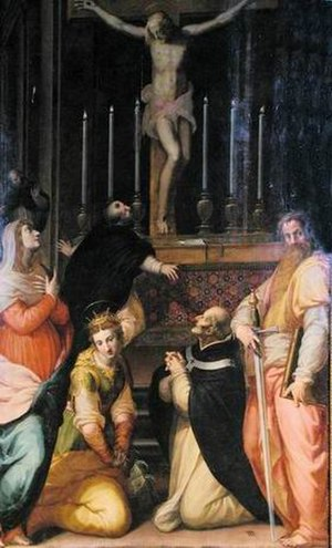 Francesco Morandini - Crucifixion with Saint Thomas (c. 1590), church of San Domenico, Prato.