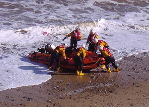 Cromer Lifeboat Station - Image: Cromer Inshore Lifeboat 15 March 2009