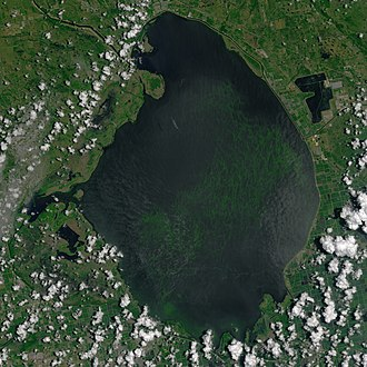 Lake Okeechobee - Lake Okeechobee from space in July 2016