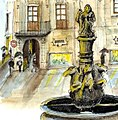 Croquis aquarellé- Saint Jacques de Compostelle - Espagne (6772088023).jpg