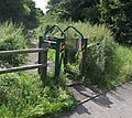 Curious stile at the entrance to the Rough Wood Nature Reserve - geograph.org.uk - 508146.jpg