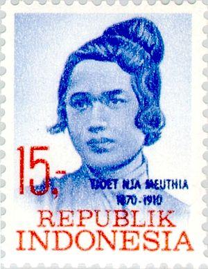 Cut Nyak Meutia - Meutia on a 1969 stamp