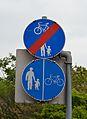 Cycling & pedestrian signs, Schwechat.jpg