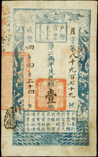 A historical series of Qing Dynasty banknotes.