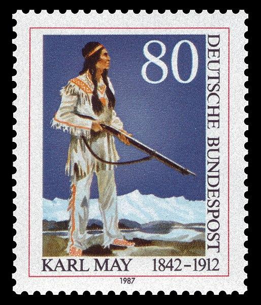 Les origines de la gamme Karl May 514px-DBP_1987_1314_Karl_May%2C_Winnetou