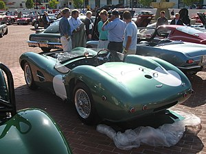 Aston Martin DBR1 - A rear view of a DBR1 replica at 2006 RM Auctions Monterey.