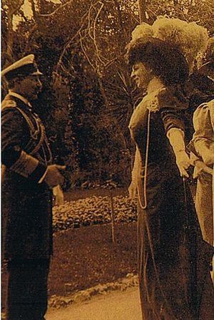 Franca Florio - Franca Florio and the German Emperor Wilhelm II.