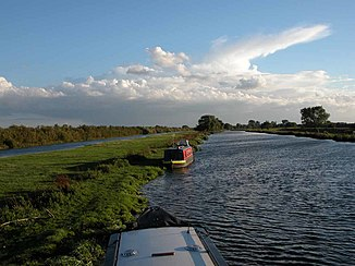 Der Great Ouse bei Over in Cambridgeshire
