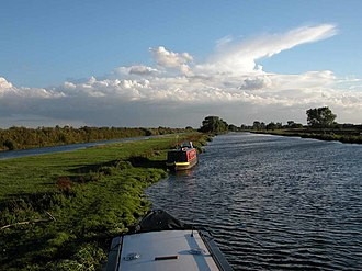 River Great Ouse - The River Great Ouse after Brownshill Staunch, near Over in Cambridgeshire