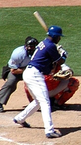 Gary Matthews Jr. - Matthews batting for the Texas Rangers in 2005