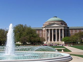 North Dallas - Dallas Hall at Dedman College at Southern Methodist University in University Park, Texas