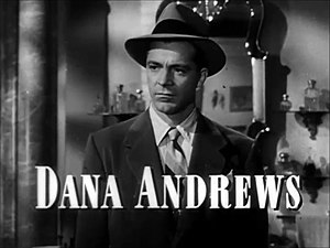 Cropped screenshot of Dana Andrews from the tr...