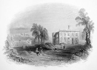 Arthur Wellesley, 1st Duke of Wellington - Wellesley spent much of his early childhood at his family's ancestral home, Dangan Castle (engraving, 1842).