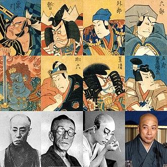 Ichikawa Danjūrō - Image: Danjuro Ichikawa I, II, III, IV, V, VI, VII, VIII, IX, X, XI and XII