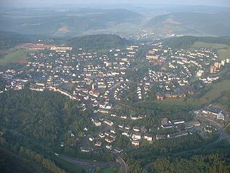 Daun, Germany - Aerial view of Daun