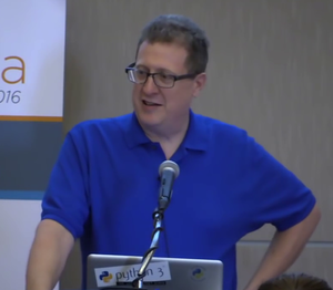 David M. Beazley - Beazley speaking at PyData Chicago in 2016