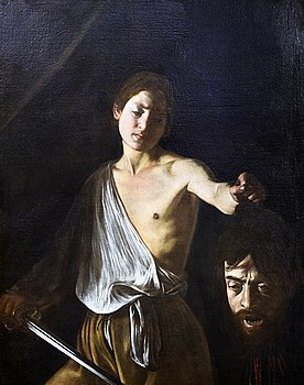 David holding the head of Goliath by Caravaggio (Rome).jpg
