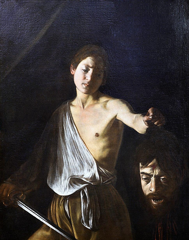 David holding the head of Goliath by Caravaggio (Rome)