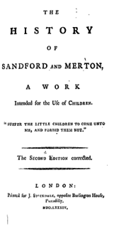 <i>The History of Sandford and Merton</i> book by Thomas Day