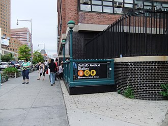 DeKalb Avenue (BMT Fourth Avenue Line) - Street stair