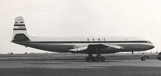 History of British Airways - BOAC D.H. Comet 1 at Heathrow Airport in 1953