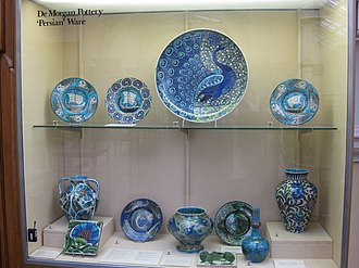 William De Morgan - Persian ware display at the Birmingham Museum and Art Gallery