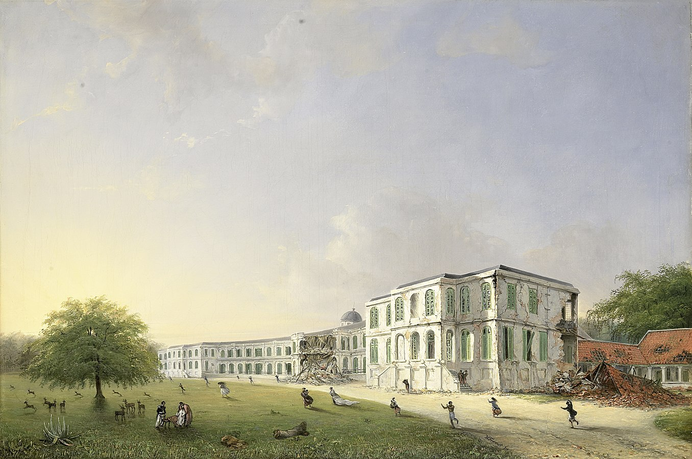 Front View of Buitenzorg Palace after the Earthquake of 10 October 1834
