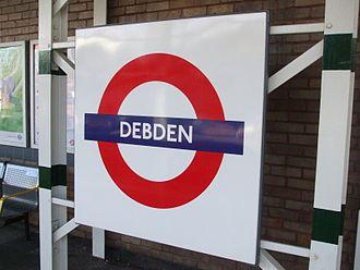 Debden tube station - Image: Debden stn roundel