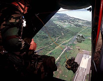 1st Special Forces Group (United States) - 1st Special Forces Group personnel jumping from a Royal Australian Air Force DHC-4 Caribou in 1997