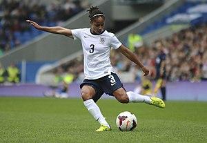 Demi Stokes - Image: Demi Stokes England Ladies v Montenegro 5 4 2014 326