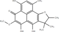 Deoxyherqueinone Structure (transparent).png