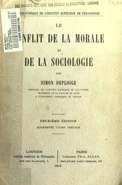 File:Deploige - Le Conflit de la morale et de la sociologie.djvu