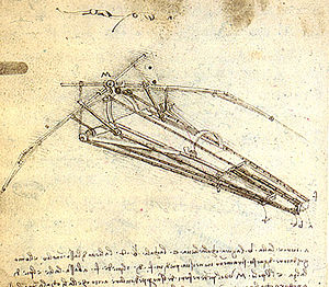 History of aviation - Leonardo da Vinci's Ornithopter design.