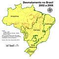 Desmatamento no Brazil, por bioma, de 2002 a 2008..jpg