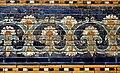 Detail, flower motifs, decorative glazed wall panel from the Throne Room of Nebuchadnezzar II from Babylon, Iraq. 6th century BCE. Pergamon Museum.jpg