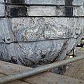 Detail van een schildering op de met lood beklede torenspits, tijdens de restauratie - Edam - 20379425 - RCE.jpg