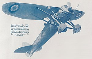 Dewoitine D.371 - French D-371