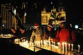 Devotees lighting the candles and pray at the Sacred Heart Cathedral, on the eve of Christmas, in New Delhi on December 24, 2010.jpg
