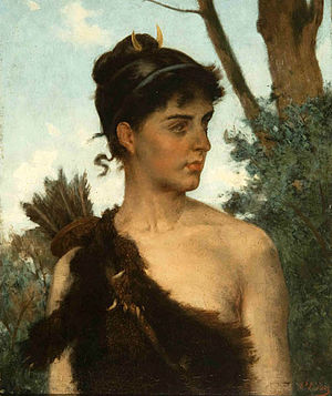 Pedro Lira - Image: Diana la cazadora Pedro Lira