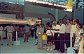 Dignitaries Watching Diplodocus - Dinosaurs Alive Exhibition - Science City - Calcutta 1995-06-15 010.JPG