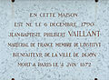 Dijon plaque commémorative Jean Baptiste Philibert VAILLANT.jpg