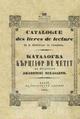 Dimitrie Gusti - Catalogue des livres de lecture de la bibliothèque de l'Académie.pdf